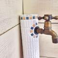★手作り★モザイクタイル★水栓柱★オリエンタル風c17