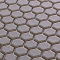 美濃焼タイル モザイクタイル 19mm六角形 ライトグレー グレー 灰色