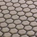 美濃焼タイル モザイクタイル 19mm六角形 クリーム 白