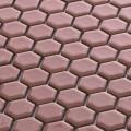 美濃焼タイル モザイクタイル 19mm六角形 サーモンピンク ピンク 赤