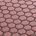 美濃焼タイル モザイクタイル 19mm六角形 ピーチ ピンク 赤