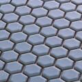 美濃焼タイル モザイクタイル 19mm六角形 ライトブルー ブルー 青