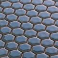 美濃焼タイル モザイクタイル 19mm六角形 スカイブルー 水色 青