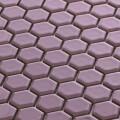 美濃焼タイル モザイクタイル 19mm六角形 ライラック パープル 紫