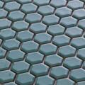 美濃焼タイル モザイクタイル 19mm六角形 ターコイズ グリーン 緑