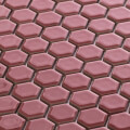 美濃焼タイル モザイクタイル 19mm六角形 ローズ 赤 ピンク