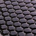 美濃焼タイル モザイクタイル 19mm六角形 ブラック 黒