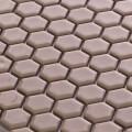美濃焼タイル モザイクタイル 19mm六角形 アイボリー 白