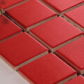 美濃焼タイル モザイクタイル 45mm角 レッド 赤