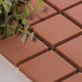 美濃焼タイル モザイクタイル 45mm角 ブラウン 茶色 赤
