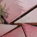 美濃焼タイル 乱型タイル ピンク