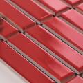 美濃焼タイル ボーダータイル レッド (AL254-100)