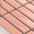 美濃焼タイル ボーダータイル ライトサーモン (AL254-A10)