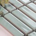 美濃焼タイル ボーダータイル ライトミントグリーン (AL254-D10)