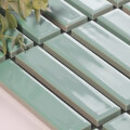 美濃焼タイル ボーダータイル ミントグリーン (AL254-D20)