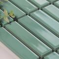 美濃焼タイル ボーダータイル ディープミントグリーン (AL254-D30)