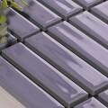 美濃焼タイル ボーダータイル ラベンダー (AL254-F20)