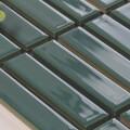 美濃焼タイル ボーダータイル ディープフォレストグリーン (AL254-G30)