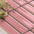 美濃焼タイル ボーダータイル ピンク (AL254-H10)