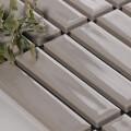 美濃焼タイル ボーダータイル ライトグレー (AL254-R10)