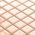 美濃焼タイル モザイクタイル 25mm角 ライトサーモン (PT25-A1)