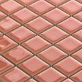 美濃焼タイル モザイクタイル 25mm角 ディープサーモン (PT25-A3)