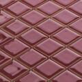 シート売り,タイル素材,パープル,屋外,紫,ワインレッド,モザイクタイル,25mm角
