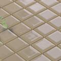 美濃焼タイル モザイクタイル 25mm角 ライトブラウングレー (PT25-J1)