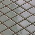 美濃焼タイル モザイクタイル 25mm角 グラスグリーン (PT25-L1)