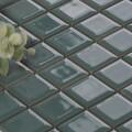 美濃焼タイル モザイクタイル 25mm角 ディープフォレストグリーン (PT25-L3)