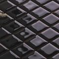 美濃焼タイル モザイクタイル 25mm角 ブラック (PT25-P2)