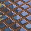 美濃焼タイル モザイクタイル 25mm角 釉変ブルーブラウン (PT25-Y5)