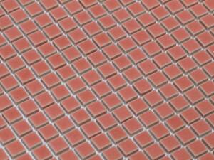 美濃焼タイル モザイクタイル 10mm角 ライトピンク