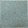 美濃焼タイル モザイクタイル 10mm角 結晶釉ブルー
