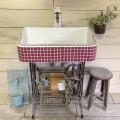 こっくりマロンの可愛い肉球ポイントシンク!(S) 1655 - ガーデンシンク シンク タイル 流し台 DIY 庭 洗い場 レトロ -