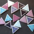 【 クラフト用 】 三角形 カラフルミックス 6色各3枚入り(craft-sankaku-a)