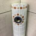 タイル水栓柱 クリーム&オレンジ [商品番号:c19]