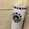 タイル水栓柱 ネイビー&ブルー [c24]