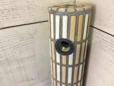 タイル水栓柱 グレー目地 ブラウンミックス [c25]