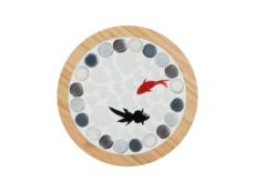 タイルクラフト用 鍋敷きキット ワビサビ金魚[品番:diy-kit-n11]