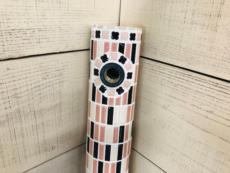 タイル水栓柱 ピンクブラックミックス[商品番号:c29]