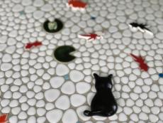 【モコネコ】猫の形のタイル